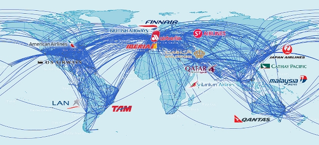 LAN Colombia joins oneworld, zil's TAM to follow in March 2014 ... on lan chile south america map, lan routing map, flights to sydney map, lan flight map, lan point map, lan airlines map,
