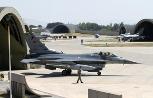 Panoramic view of Falcon´s HAS at Konya AFB (photo: Ronald de Roij and Peter Kooijman)