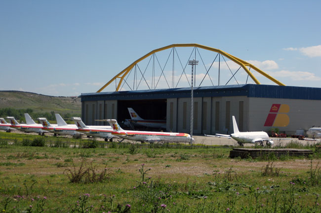 Hangar de Iberia en Madrid-Barajas