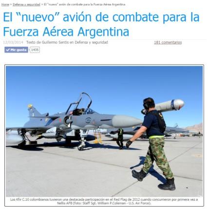 """La nota más popular de los últimos seis años: El """"nuevo"""" avión de combate para la Fuerza Aérea Argentina, de Guillermo Sentis (fuente: Gaceta Aeronáutica)."""