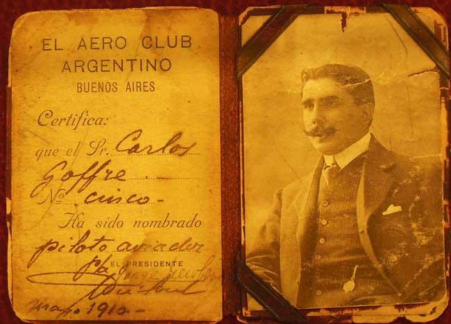 Cuando llegaron los aviones, en 1910, el Aero Club Argentino empezó a nombrar pilotos aviadores (foto archivo Pablo Luciano Potenze).